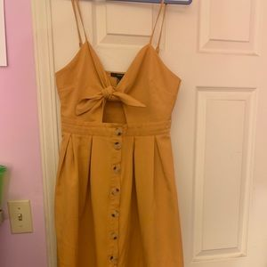 Marigold Knee Length Cut Out Forever 21 Dress